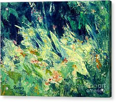 Acrylic Print featuring the painting Wildflowers by Mary Lynne Powers