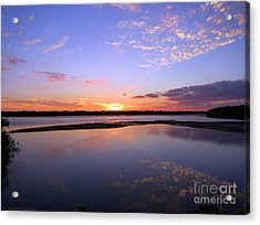 Wildlife Drive Sunset Acrylic Print