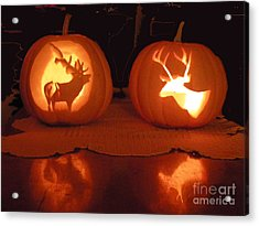 Wildlife Halloween Pumpkin Carving Acrylic Print