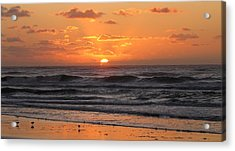 Wildwood Beach Here Comes The Sun Acrylic Print