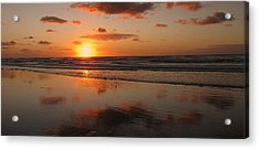 Wildwood Beach Sunrise Acrylic Print by David Dehner