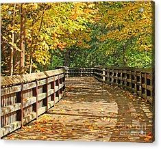 Wildwood Boardwalk Corrected Acrylic Print