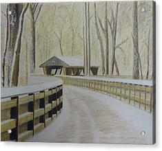 Wildwood Bridge Acrylic Print by Samuel McMullen