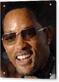 Will Smith Portrait Acrylic Print