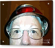 Will The Red Hat Society Accept Me? Acrylic Print by MJ Olsen