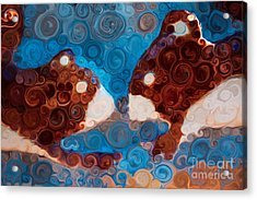 Acrylic Print featuring the painting Will You Be My Beaver by Omaste Witkowski
