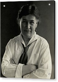 Willa Cather Wearing A Tie Acrylic Print