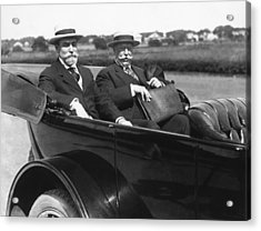Willam Taft And Charles Hughes Acrylic Print by Underwood Archives