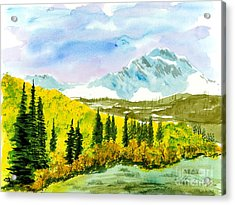 Willard Peak Acrylic Print
