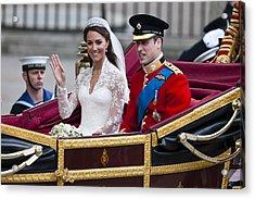 William And Kate Royal Wedding Acrylic Print