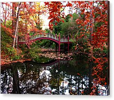 William And Mary College  Crim Dell Bridge Acrylic Print by Jacqueline M Lewis