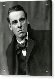 William Butler Yeats Wearing A Bowtie Acrylic Print by Arnold Genthe