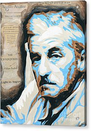 William Faulkner With Title Pages Acrylic Print by Jenny Hall