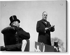 William Mckinley Making His Inaugural Address Acrylic Print by War Is Hell Store