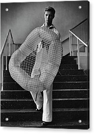 William Miller Holding A Chair Of His Design Acrylic Print