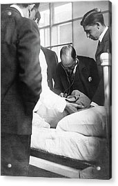 William Osler Attending A Patient Acrylic Print