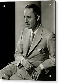 William Powell Wearing A Suit Acrylic Print