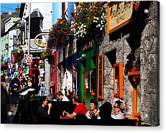William Street, Galway City, Ireland Acrylic Print by Panoramic Images