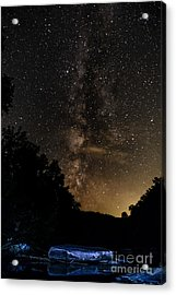 Williams River Milky Way Acrylic Print by Thomas R Fletcher