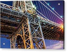 Williamsburg Bridge 1 Acrylic Print by Az Jackson