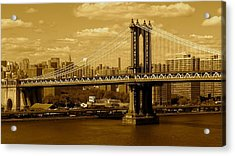 Williamsburg Bridge New York City Acrylic Print