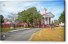 Acrylic Print featuring the photograph Williamsburg Presbyterian Church by Linda Brown