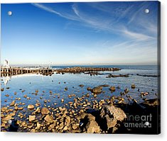 Acrylic Print featuring the photograph Williamstown Beach by Yew Kwang
