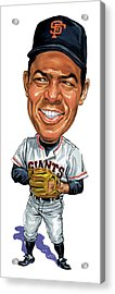 Willie Mays Acrylic Print by Art