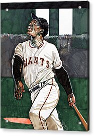 Willie Mays Acrylic Print by Dave Olsen