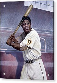Willie Mays Acrylic Print by Gregory Perillo