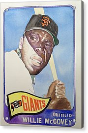 Willie Mccovey Acrylic Print by Robert  Myers