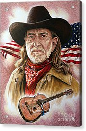 Willie Nelson American Legend Acrylic Print