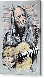 Willie Nelson Acrylic Print by Melanie D