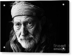 Willie Nelson Acrylic Print by Paul Tagliamonte