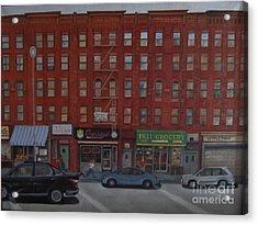 Willis Avenue Tenements Acrylic Print by Karen Olson