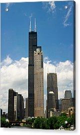 Willis Tower Aka Sears Tower Acrylic Print by Adam Romanowicz