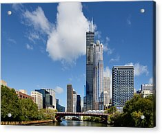 Willis Tower And 311 South Wacker Drive Chicago Acrylic Print by Christine Till
