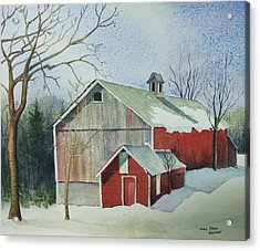 Williston Barn Acrylic Print by Mary Ellen Mueller Legault