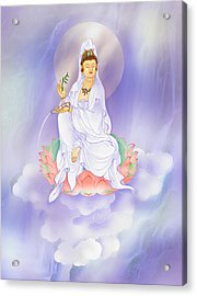Willow Kuan Yin Acrylic Print by Lanjee Chee