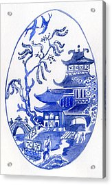 Willow Pattern Egg I Acrylic Print