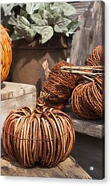 Acrylic Print featuring the photograph Willow Pumpkins by Patrice Zinck