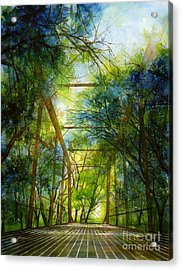 Willow Springs Road Bridge Acrylic Print by Hailey E Herrera
