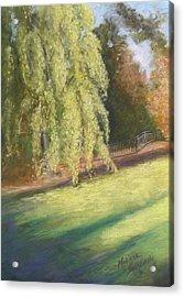 Willow Way Acrylic Print by Melinda Saminski