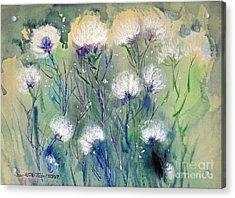Willowy Whites Acrylic Print by Joan Hartenstein