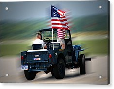 Willy Jeep From The 32nd Air Defense Acrylic Print by Thomas Woolworth