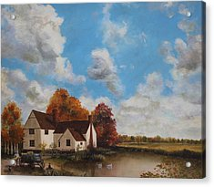 Willy Lott's Cottage Acrylic Print by Cecilia Brendel