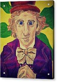 Willy Wonka Acrylic Print by Jessica Sanders