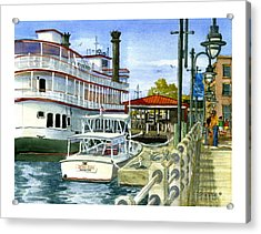 Wilmington Dock Acrylic Print