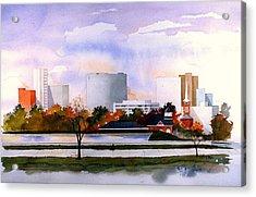 Wilmington Resevoir Skyline Acrylic Print
