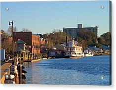 Wilmington River Front At Sunset January 2014 Acrylic Print